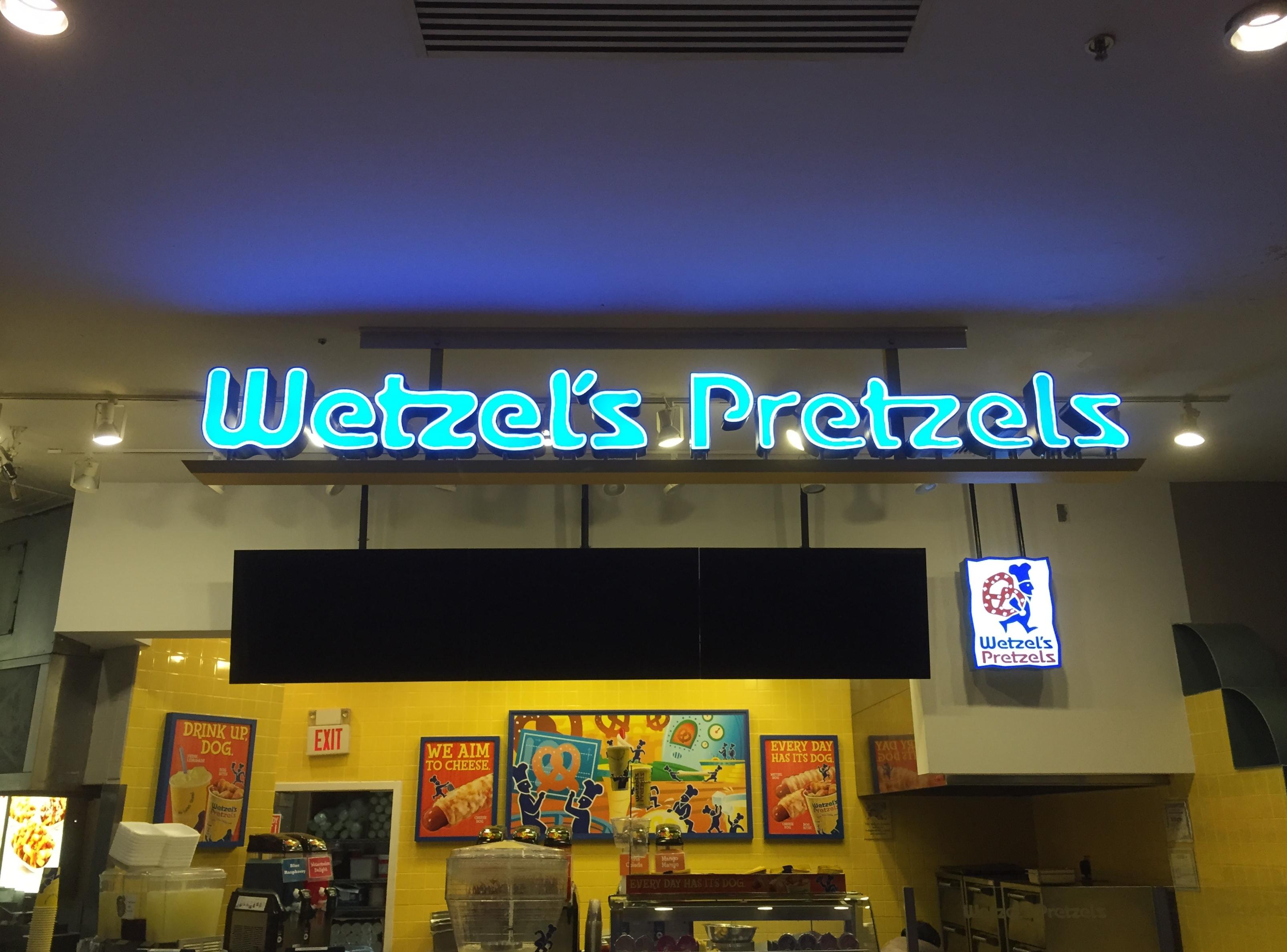 Wetzels Pretzels Sign